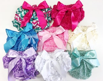 75% OFF CLEARANCE: Baby Bloomers Black Friday Sale, Cyber Monday Sale, Blow-Out, Grab Bag, Diaper Cover Rosette Bloomers, Baby Christmas