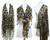 Tribal Print Aztec Tassel Scarf Woman Winter Scarf Shawl Accessories Fashion Scarf Perfect Christmas Gifts Holiday Gift Ideas For Her Mom