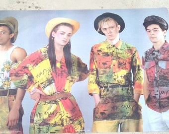 Rare and unobtainable Posters 1982 Boy George and Culture Club
