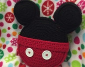 Made to order Crochet pillow Mickey Mouse inspired icon mouse ears toss pillow throw pillow