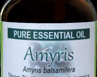 Amyris (Amyris balsamifera) Pure Essential Oil 1 fl oz (30 ml) bottle