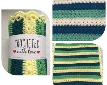 crochet baby blanket Spring Colours