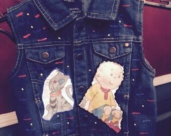 Calliou inspired jean vest