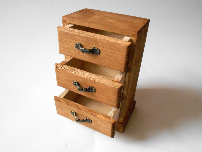 Jewelry Wooden Box With Drawers Keepsake Jewelry Box