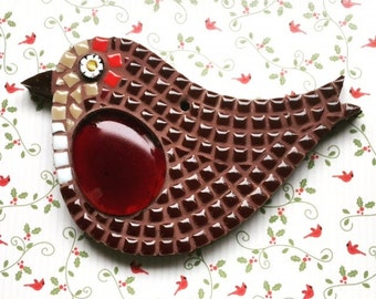 Fun Lily Mosaics D.I.Y. Mosaic Robin Kit for adults and children