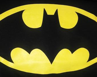 batman logo glows