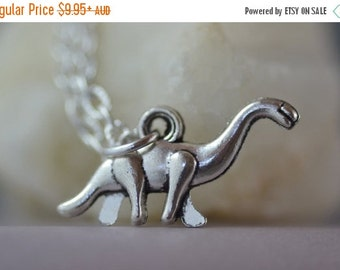 SALE Dinosaur Necklace, Brontosaurus, ND003