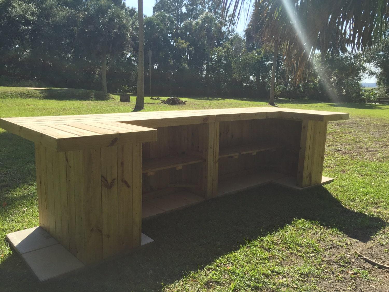 The glen 14 39 x 4 5 39 rustic u shaped outdoor patio or for U shaped outdoor bar