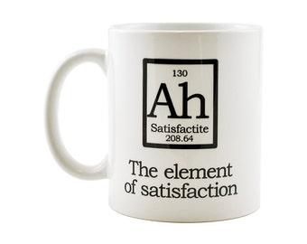 Ah Periodic Table Mug   -  The Element of Surprise Funny Coffee or Tea Mug