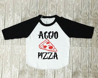 Accio Pizza Shirt - baby boy - toddler boy - geeky - harry potter inspired -wizard - pizza shirt - wizarding world - pizza