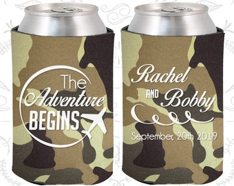 Camouflage Wedding, Can Coolers, Camouflage Wedding Favors, Camouflage Wedding Gift, Camouflage Wedding Decor (277)