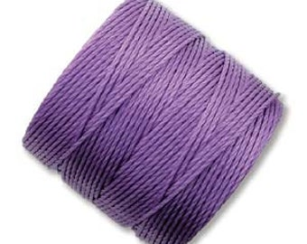 Violet ,S-Lon #18 Bead Cord, Tex 210, Twisted Nylon Cord 77 Yds. Kumihimo supplies