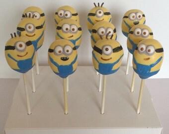 Minion Cake Pops - Minion Party - 12 Cake Pops