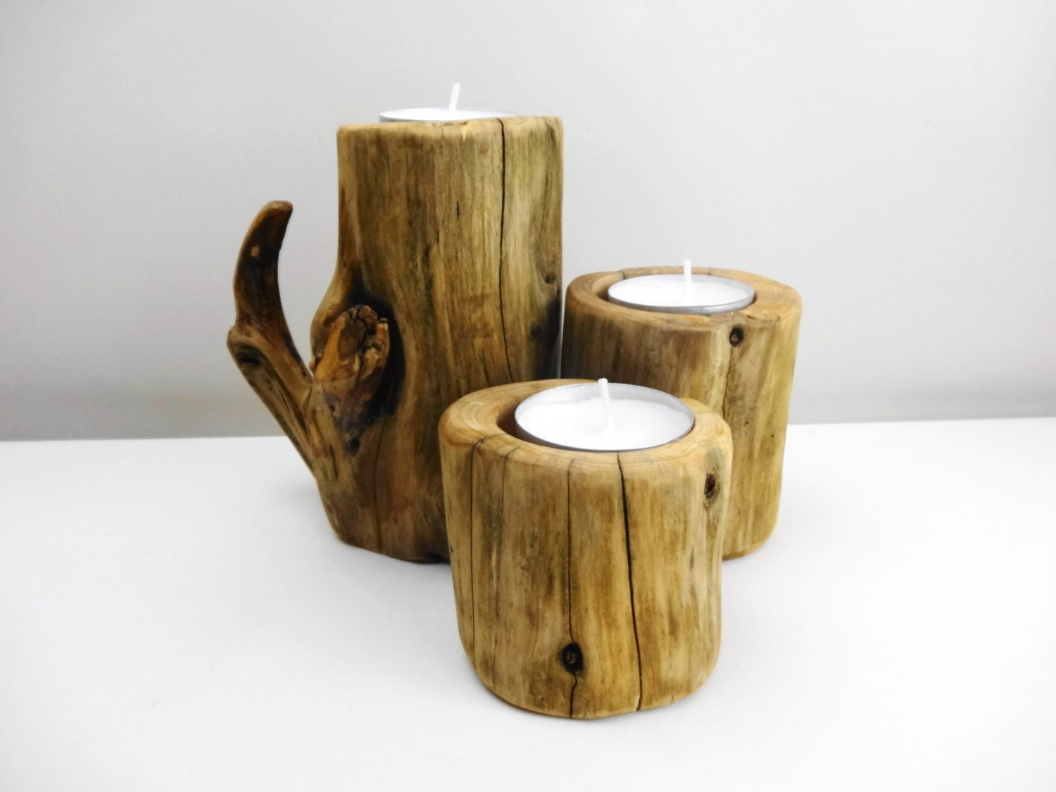 Wood candle holders wooden candle holder branch by Wood candle holders