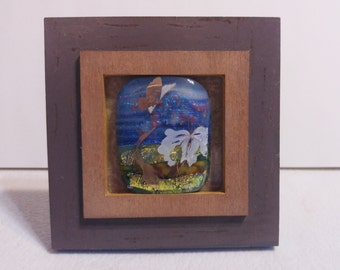 """Framed fused glass """"picture"""""""