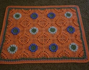 Crochet baby carseat blanket, Flower blanket for baby, Crochet Baby Blanket - Colorful Baby Blanket - Stroller Blanket - Crochet Blanket