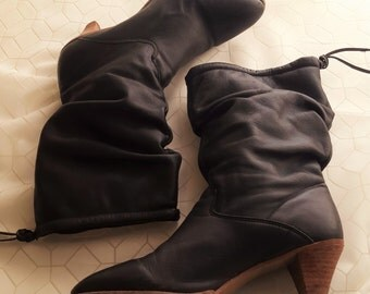 Bohemian Style Slouch Boots