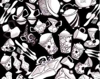 Loralie Designs - The Kitchen Sink Black