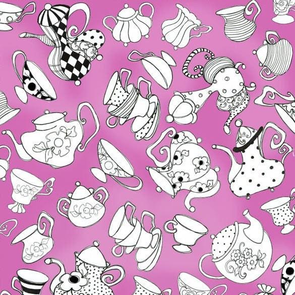 Loralie Designs Tea Party Hot Pink