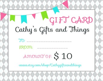 10.00 Gift Cert for my shop