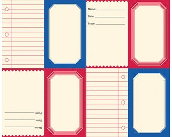 """Jenni Bowlin Die Cut/Perforated Papers, """"Tags"""", 12X12 Cardstock Sheet"""