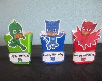 PJ Masks popcorn boxes(10)pj masks favor boxes,pj masks birthday,pj masks party,pj masks gift,pj masks favors,pj masks decor,PJ Masks Theme
