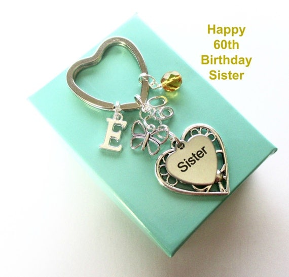 60th birthday gift for sister personalised sister keyring for Gardening 60th birthday gifts