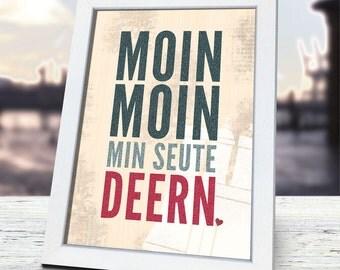 Moin Moin min seute Deern, incl. frame