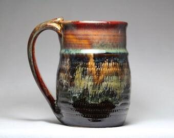 18oz pottery mug, stoneware pottery mug