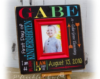 First Day of School Sign, Kindergarten frame, Back to School Sign, School Picture, 1st Day of School, Back to School, Typography 16x16