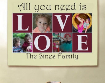 Personalized All You Need Is Love Collage