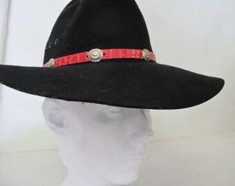 Black Cowboy Hat Praire Hat Eddy Cowboy Hat Black Wool Cowboy Hat