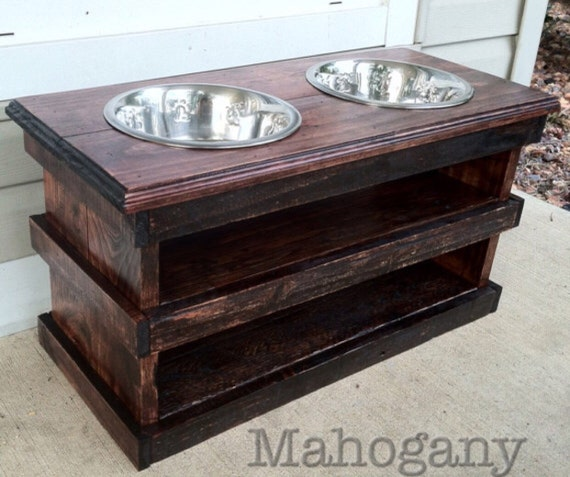 Items Similar To Raised Pallet Dog Bowl Feeding Stand