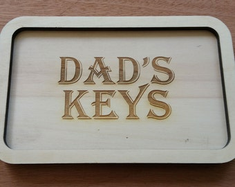 Dads Keys. KeyTray, Fathers Day Gift.