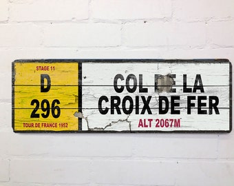 Vintage French Road Cycling Sign