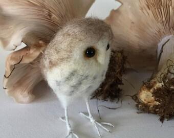 Needle Felted Owl on Feet