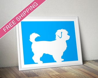 Maltipoo Print - Maltipoo Silhouette, Maltipoo art, dog portrait, modern dog home decor