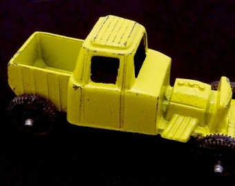 Vintage Diecast Metal Tootsietoy Yellow Hot Rod Truck 20863