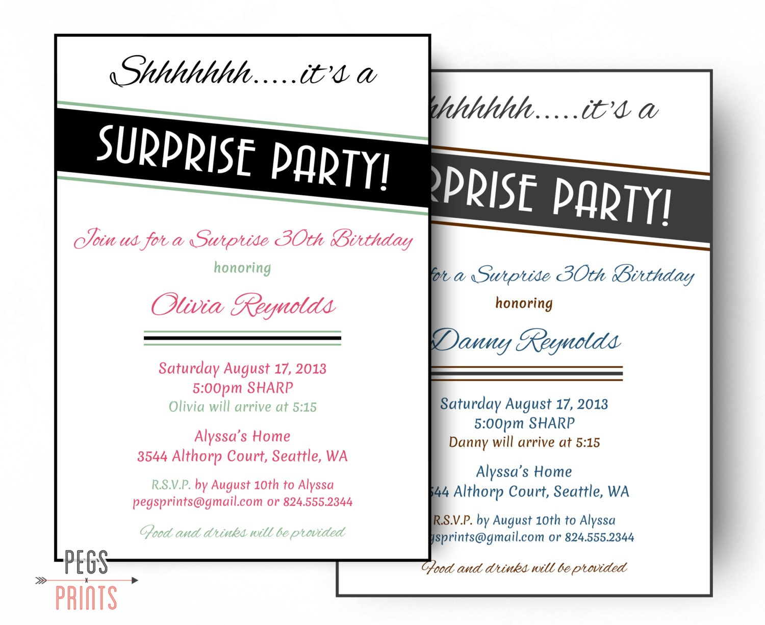 Adultes de surprise anniversaire invitation imprimer - Invitation anniversaire surprise ...