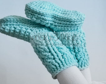 Crochet pattern: women chunky boots,chunky yarn,sizes 36 to 42EU/ 5,5 to 10 US,crochet cables,women crochet slippers,adult slippers,footwear