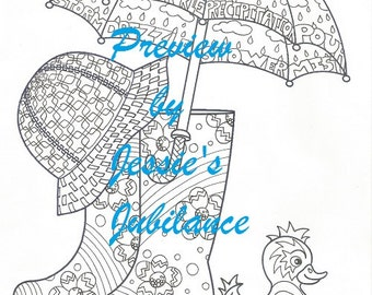 Coloring Pages 4 Pack April Shower Bring May Flowers