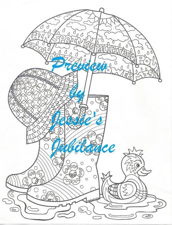 april shower coloring pages - photo#22