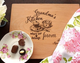 Grandma Mother's day gift Custom Cutting Board Gift for Nana Mother's Day Present Personalized Cutting Board Grandmother Birthday Present