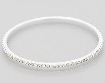 Rhinestone Embedded Bangle Bracelet, Rhinestone Bracelet, Rhinestone Bangle, Stackable Bracelet