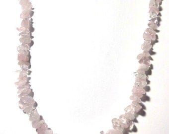 Quartz Rose Necklace