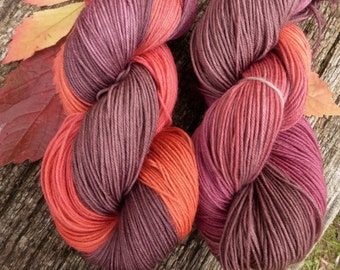 PURE MERINO pure wool 4 ply, fingering, 100 gms, Hand Dyed, Mollycoddle Yarns, fingering, 400 mts