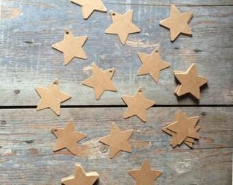 10 kraft color paper labels tag label star star