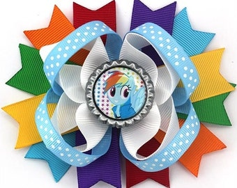 "My Little Pony Rainbow Dash Boutique 4.5"" Bow"