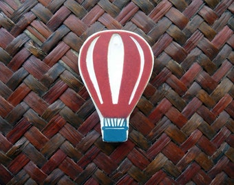 Hot Air Balloon Rubber Stamp, Hand Carved, Fabric Stamp, Hand Made, Stamping Supplies