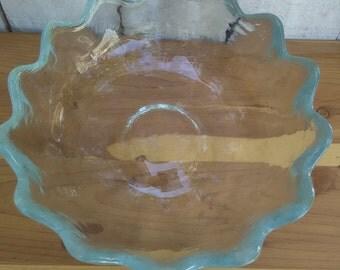 Blenko Scalloped Large Bowl